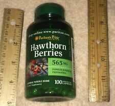 Hawthorn Berries Herbal Supplement, (100 capsules, 565 mg each)