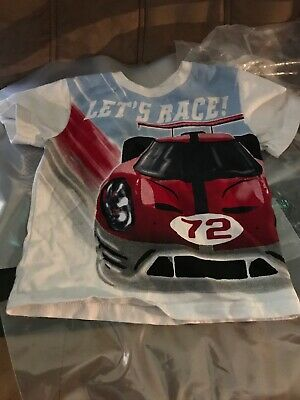 Mulberribush Cool Race Car  Layered Look Shirt NWT Boy/'s 2T