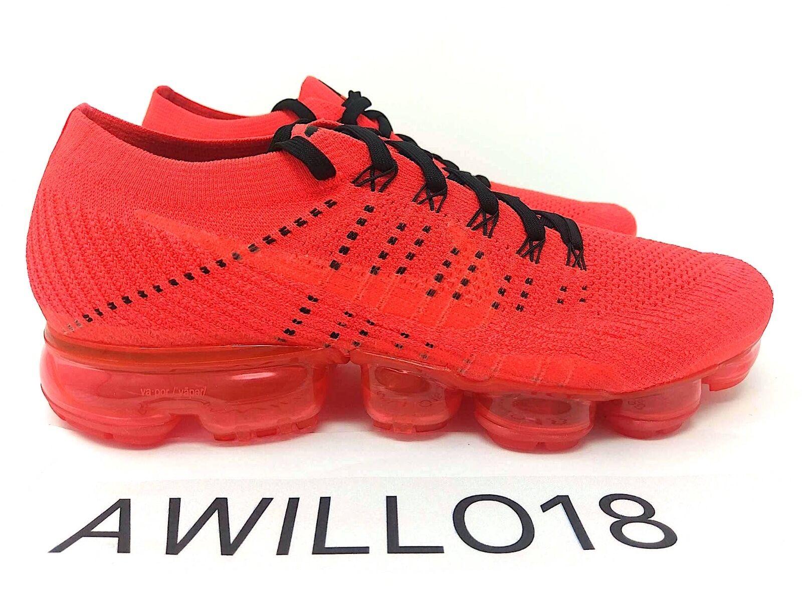 Nike x Clot Air Vapormax Flyknit Bright Crimson Red Black US