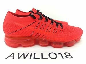 5e67cfabfed61 Nike x Clot Air Vapormax Flyknit Bright Crimson Red Black UK 5 6 7 8 ...