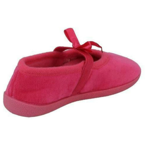 SPOT ON X2R031 HOUSE SHOES GIRLS WINTER FLAT CASUAL SLIP ON CHILDRENS SLIPPERS