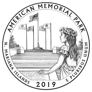 America the Beautiful Quarter BU 2019 D AMERICAN MEMORIAL NATIONAL PARK