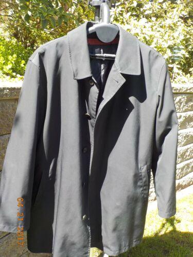Men's Sanyo trench coat, size 50R, black, good co