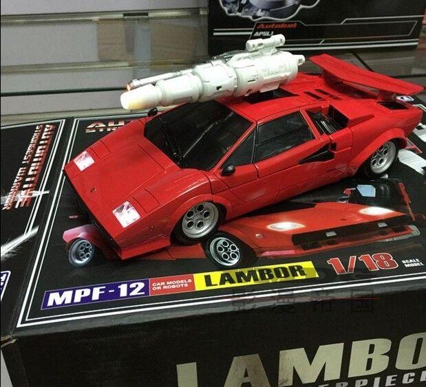 1 18 TRANSFORMERS Masterpiece Sideswipe Lambor KO Ver. MPF-12 Enlarger Size LED
