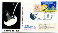 1982 Aeropex '82 TRW Hughes Stamp Clubs Redondo Beach SPACE NASA USA