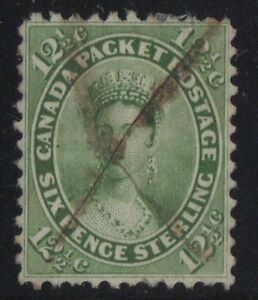 MOTON114-18-Canada-used-well-centered-pen-cancel