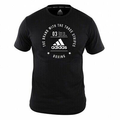 Adidas T-shirt Community Boxing, Adicl 01b-90100. Box, Kick Box. 100% Cotone-. Boxen, Kickboxen. 100% Baumwoll It-it Mostra Il Titolo Originale Crease-Resistenza