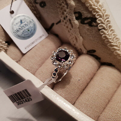 Stunning Austrian Topaz crystal solitaire ring in Sterling Silver
