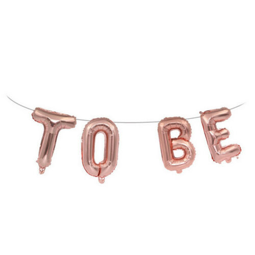 16 inch 9x Rose Gold Bride To Be Hanging Letter Foil Balloon Hen Party Decor  NP