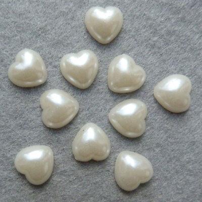 Lot 100 Pieces Demi Perles 4mm Mixte à coller Decoration ongles couture