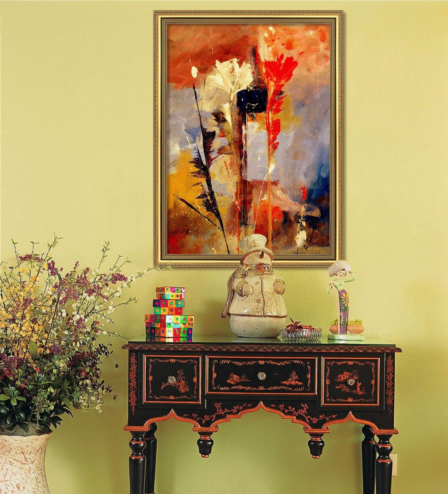 3D pintura al óleo cártamo 47 Enmarcado Cartel Decoración del Hogar Pintura de Impresión Arte AJ