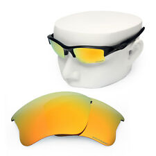 d28e88a09f OOWLIT Replacement Lenses for-Oakley Flak Jacket XLJ POLARIZED -Fire Red  Mirror