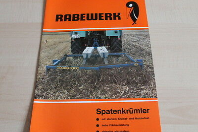 100% QualitäT 144103) Rabewerk Spatenkrümler Prospekt 08/1980
