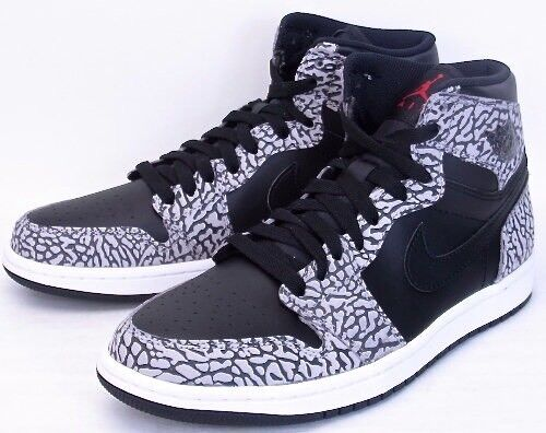 Nike Air Jordan Retro 1 High Black White Elephant Cement 3 Dunk Supreme sb sz 11
