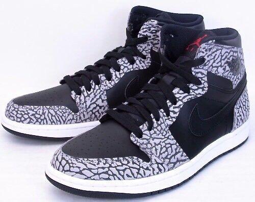 Nike Air Jordan Retro 1 High Black White Elephant Cement 3 Dunk Supreme sb  sz 11 86686466b45f