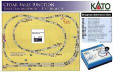 "NEW N SCALE KATO ""Cedar Falls Junction"" Single Track 4'x3' Unitrack Layout"