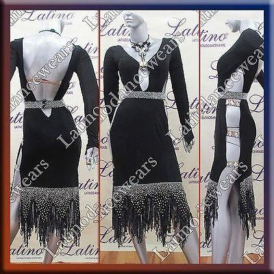 LATIN RHYTHM SALSA BALLROOM COMPETITION DANCE DRESS - SIZE S, M, L (LT793)
