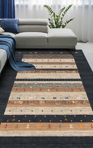 Hand-knotted-Carpet-8-039-0-034-x-10-039-0-034-Kashkuli-Gabbeh-Traditional-Wool-Rug