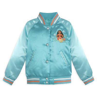 NWT Disney Store Moana Varsity Jacket Girl Size 5//6,7//8,9//10 no name on jacket