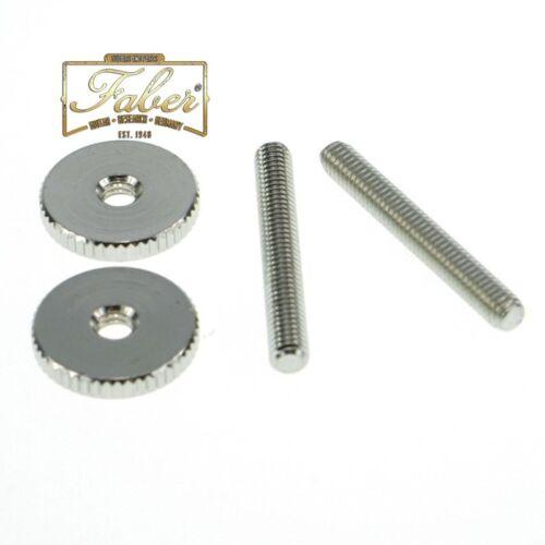 Faber ST-MNG, 4mm Metric, '59ABR Studs/Thumbwheel Kit (pair),nickel,gloss