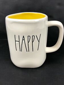 Rae-Dunn-Artisan-Collection-By-Magenta-LL-HAPPY-Yellow-Interior-Farmhouse-Mug