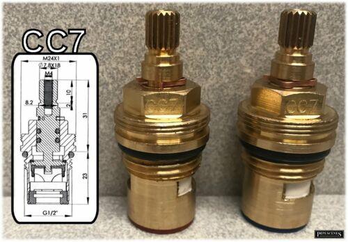 C4 Ceramic Disc Tap Cartridge Valves 18 Spline x 7.8mm PAIR pipescenes555 CC7