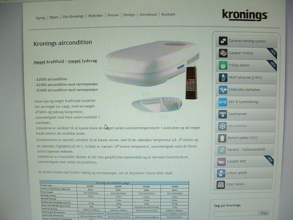 Aircondition/Klimaanlæg, Kronings