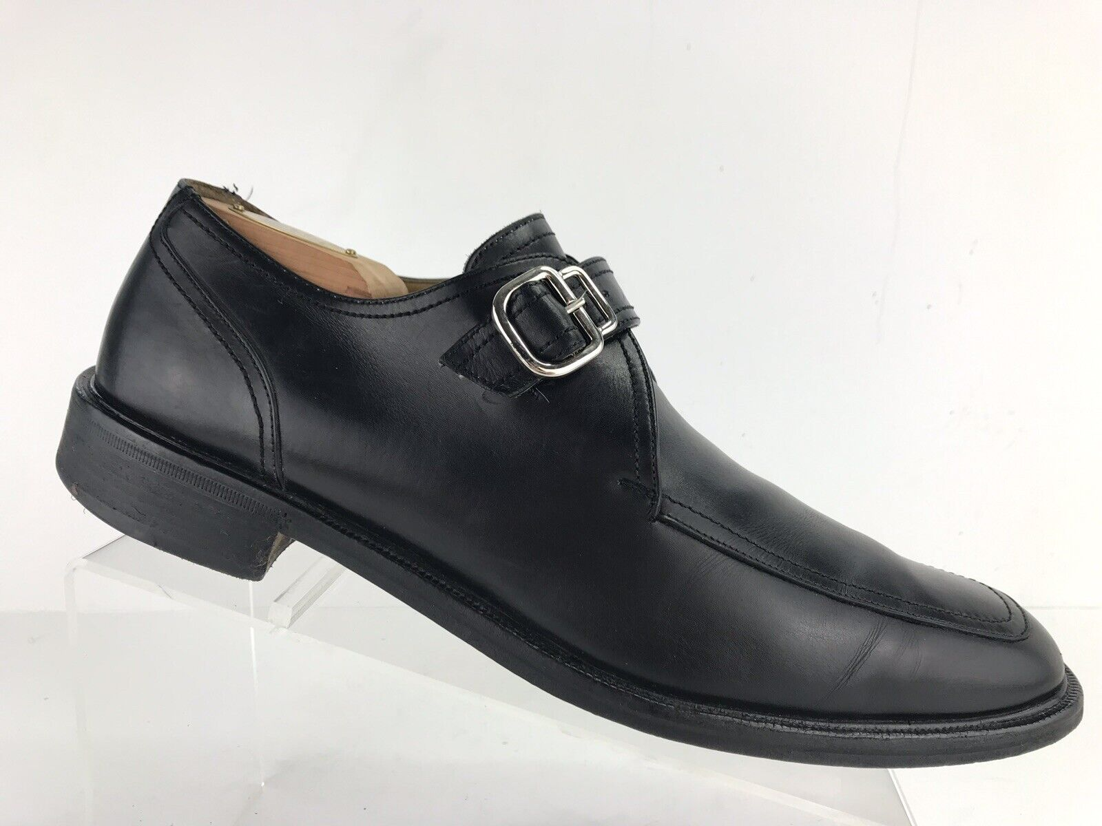 Cole Haan Black Leather Monk Strap Made in  Dress shoes Men's 10.5 M