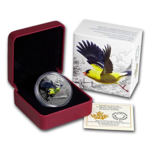 American Goldfinch SKU #102869 2016 Canada 1 oz Silver Migratory Birds