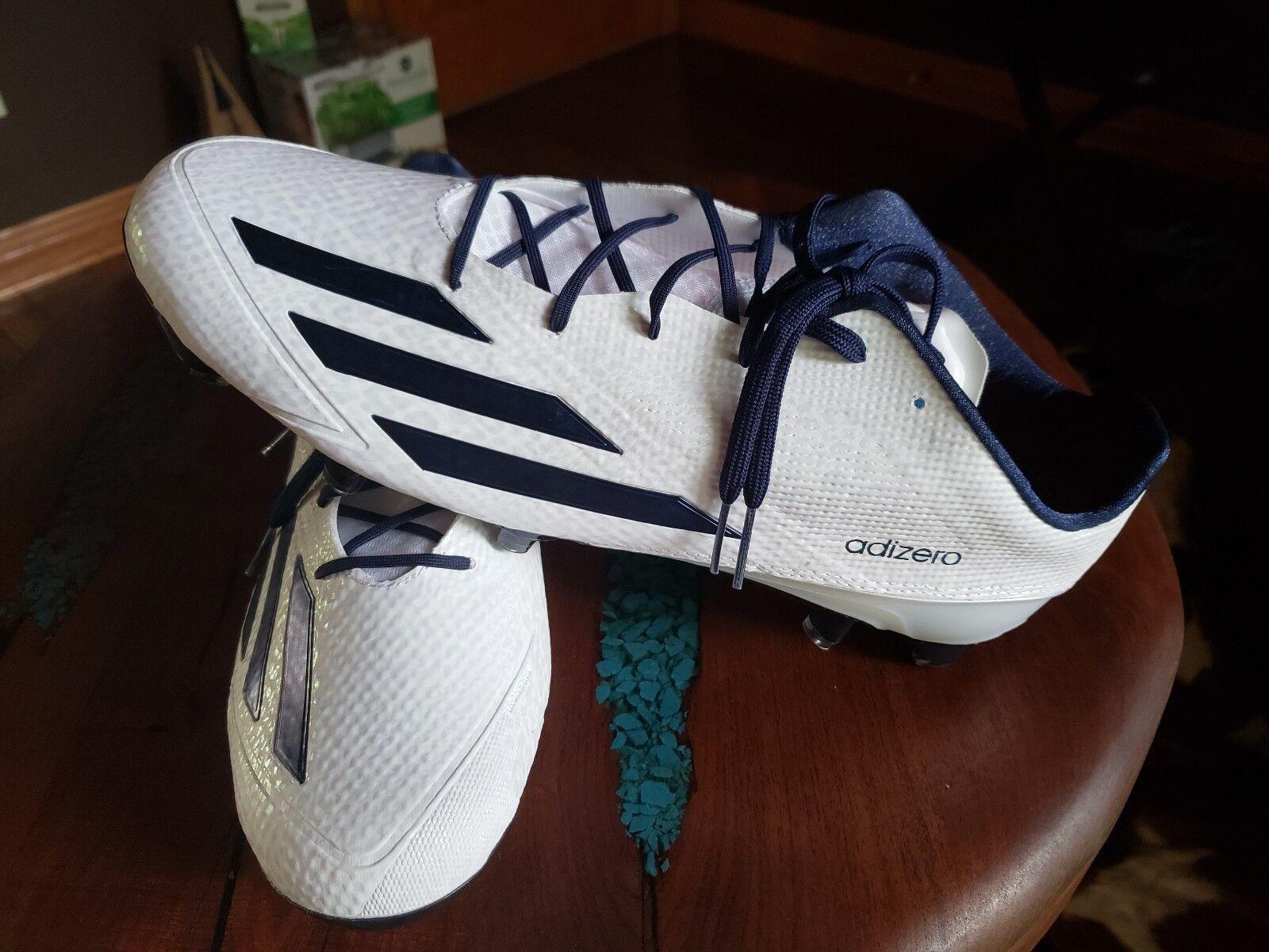 Adidas Adizero 5 Star 5.0 Football Cleats AQ8737 White  Navy size 14