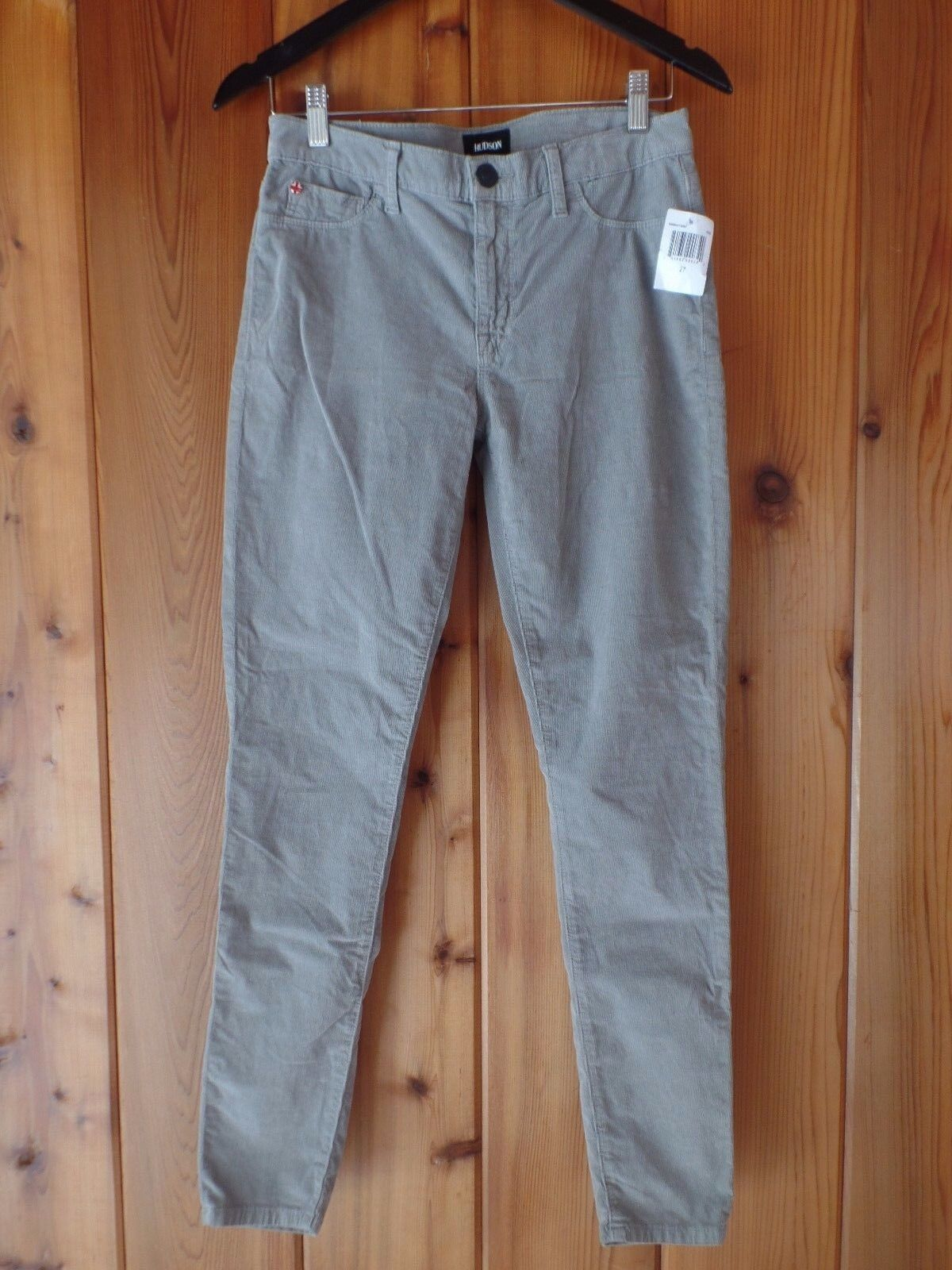 New Hudson Nico Super Skinny Corduroy Pants In Pebble Size 27