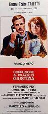 locandina playbill CORRUZIONE AL PALAZZO DI GIUSTIZIA Marcello Aliprandi  balsam