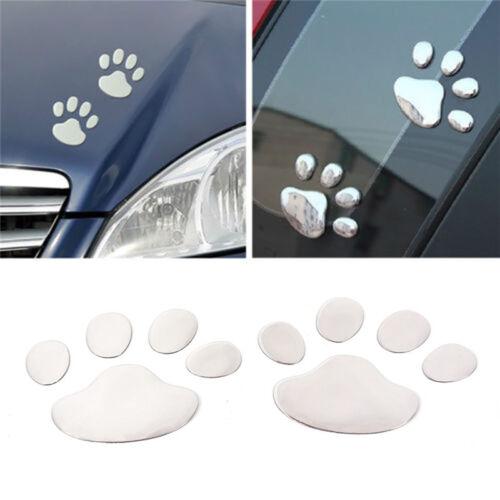 2pcs 3D Dog Paw Footprint Car Sticker Decal Footprint Sticker Motorcycle Decor H