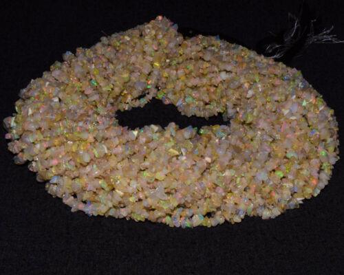 "Ethiopian Opal Welo Fire Opal Natural Gemstone Uncut Chips Plain Beads 6/"" Strand"