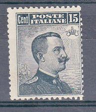 REGNO - 1909 - 15 cent Vittorio Emanuele(86) - Invisibile traccia linguella - MH