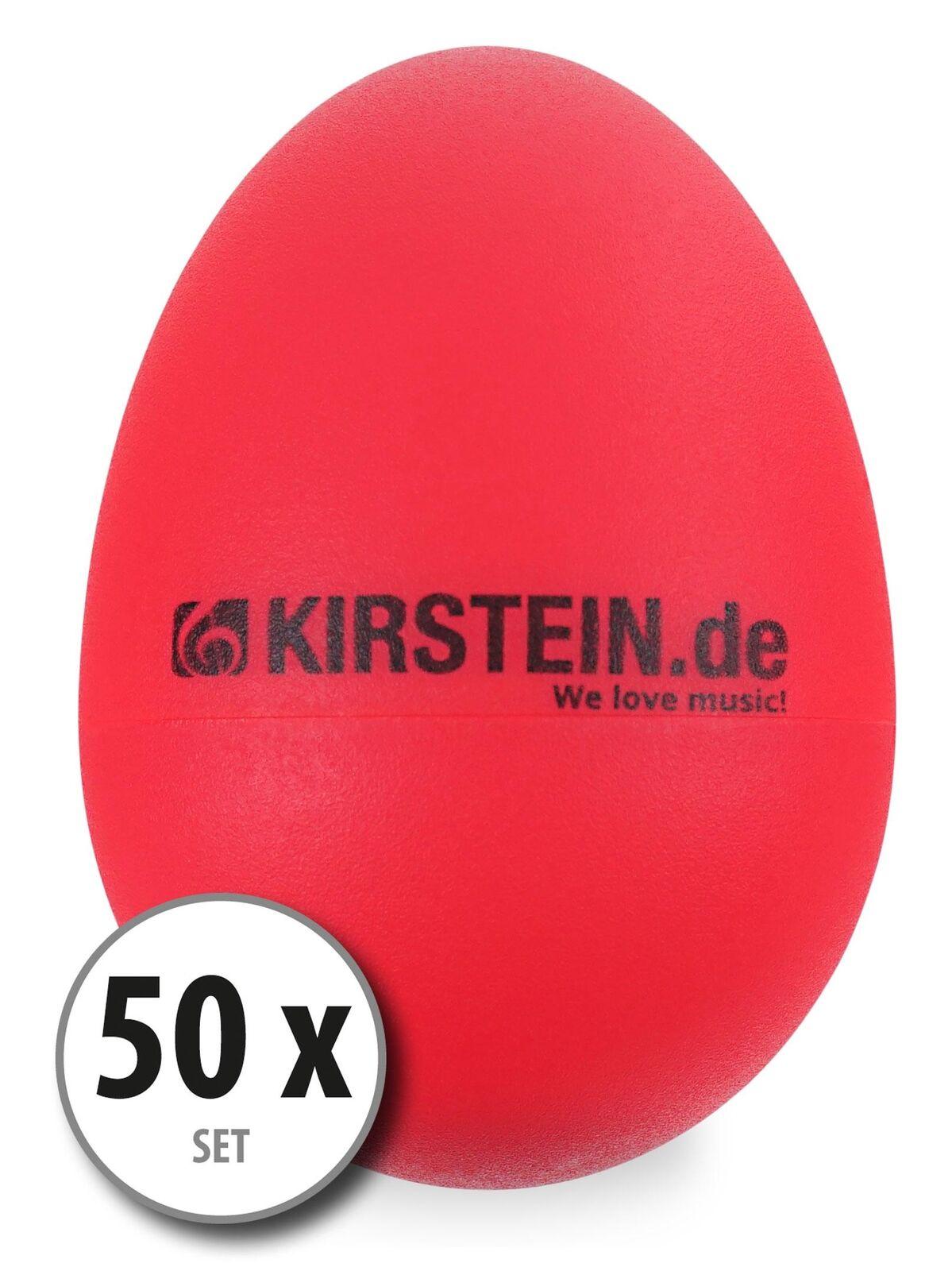 50x roter Egg Shaker Schüttelei zur Percussion-Begleitung im Studio oder Live