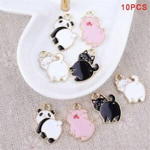 10Pcs-Lot-Enamel-Alloy-Pig-Cat-Panda-Charms-Pendants-DIY-Jewelry-Findings-Crafts