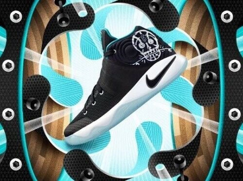 finest selection b70cc 6e551 Nike Kyrie 2 II Disney Pixar COCO Black Jade White Ice Basketball Shoes GS  4.5Y
