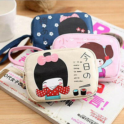 Cute Korean Girl Women Handbag Zip Coin Bag Case Key Card Holder Purse Wallet
