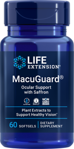 Life Extension MacuGuard Ocular Support with Saffron 60 Softgels Eyes & Vision