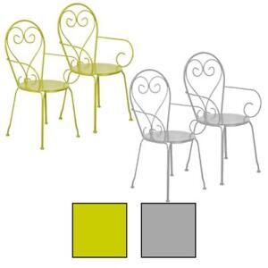 Das Bild Wird Geladen 2x Gartenstuhl Gruen Grau Esschert Design Metall  Gartenstuehle