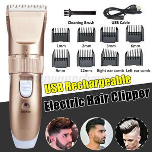 Men-039-s-Electric-Cordless-Hair-Beard-Body-Clipper-Trimmer-Shaver-Professional-Kit