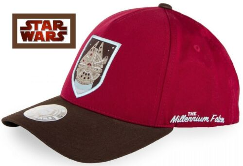 The Millennium Falcon NEW Mens Red//Brown Caps STAR WARS