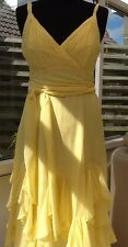 Dreamy Pure Silk Pale Yellow Dress By Coast Size 10