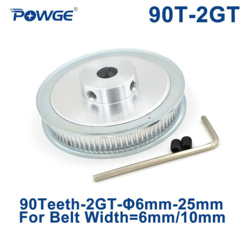 GT2//2GT 90 Teeth Timing Pulley Bore 6mm-15mm for Belt Width 6//10mm 90Teeth 90T