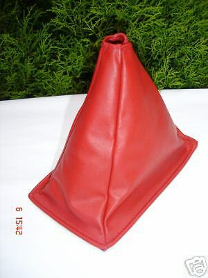 FITS MR2 MK1 AW11 REAL RED LEATHER GEAR GAITER GAITOR