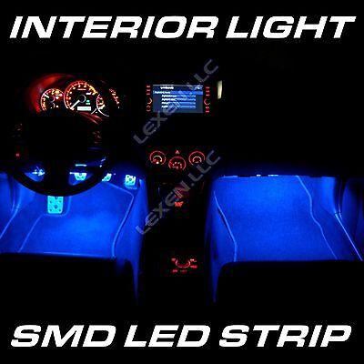 "LED B5 BLUE 2X BIG 12-SMD 12"" INTERIOR STRIP FOOTWELL LIGHT DASH BULB EXTERIOR d"