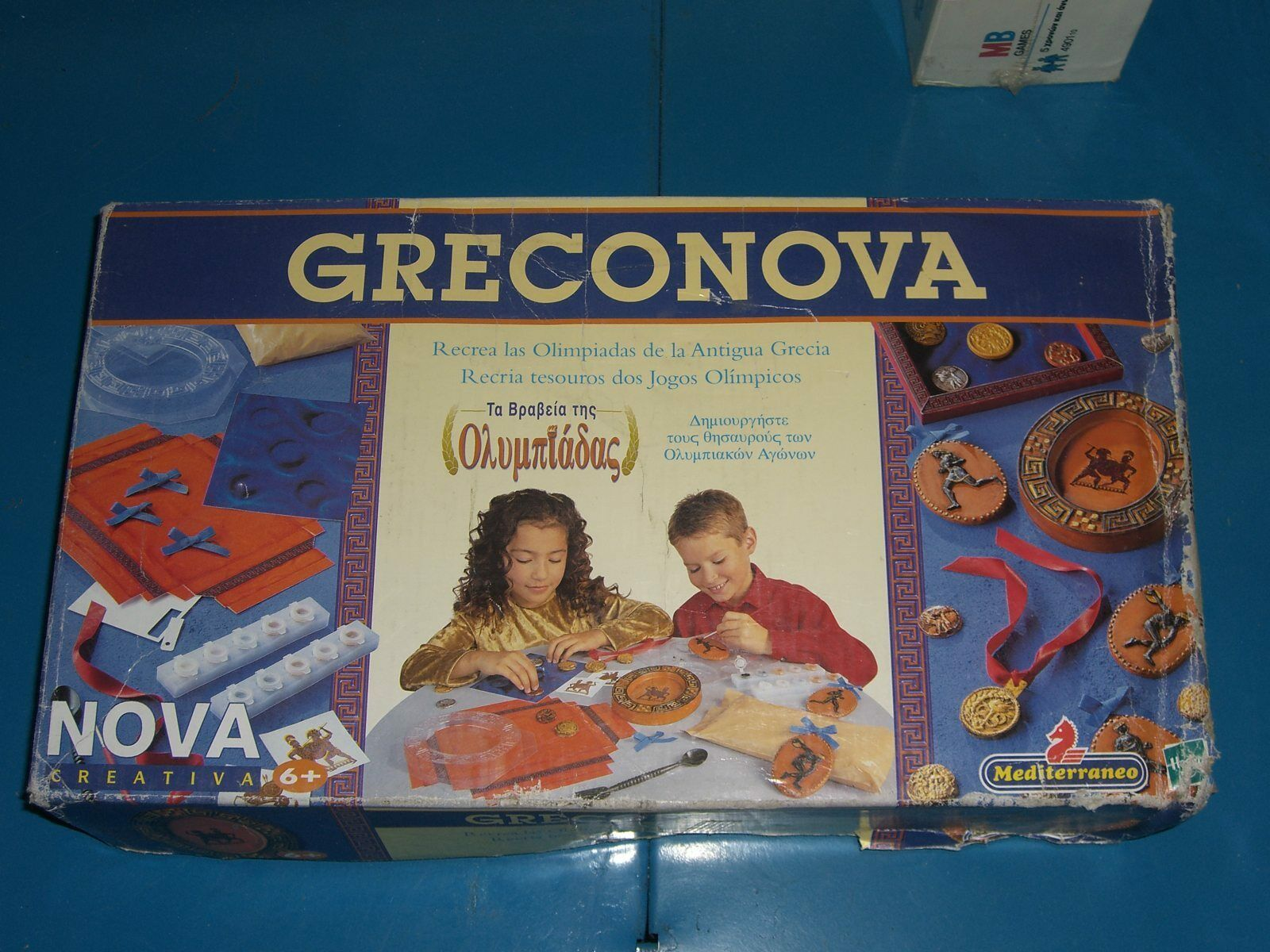 1999 MEDITERRANEO MOLDING SET GRECONOVA HASBRO EDUCATIONAL GREEK OLYMPIC GAMES