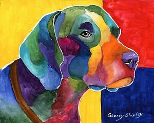 German-Shorthaired-Pointer-8x10-Print-DOG-Painting-by-Sherry
