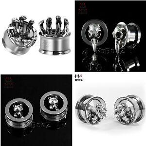 1-Pair-Modeling-Stainless-Steel-Ear-Plugs-Screw-Fit-Gauges-Tunnels-Earrings